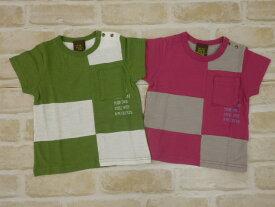 【2019サマーセール】ラグマート(RAG MART)ブロックパッチワークTシャツ(100cm、110cm、120cm、130cm)