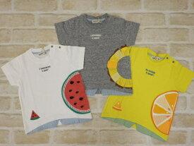 【2019サマーセール】ラグマート(RAG MART)フルーツ柄のデザインTシャツ(100cm、110cm、120cm、130cm)