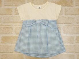 【2019サマーセール】SiShuNon(SKAPE)リボンビスチェTシャツ(90〜130cm)