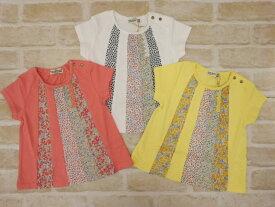 【2020春夏50%OFFセール】ラグマート(RAG MART)色んなお花柄のパッチワーク風Tシャツ(100cm、110cm、120cm、130cm)