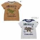 ミキハウスダブルB(DOUBLE.B)恐竜モチーフの半袖Tシャツ