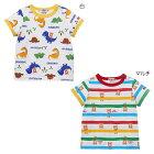 ホットビスケッツ(HOTBISCUITS)恐竜柄&カラフルボーダー柄半袖Tシャツ