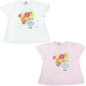 【2021春夏30%OFFセール】KP(ニットプランナー)mimiちゃん花束Tシャツ(100cm、110cm、120cm、130cm)