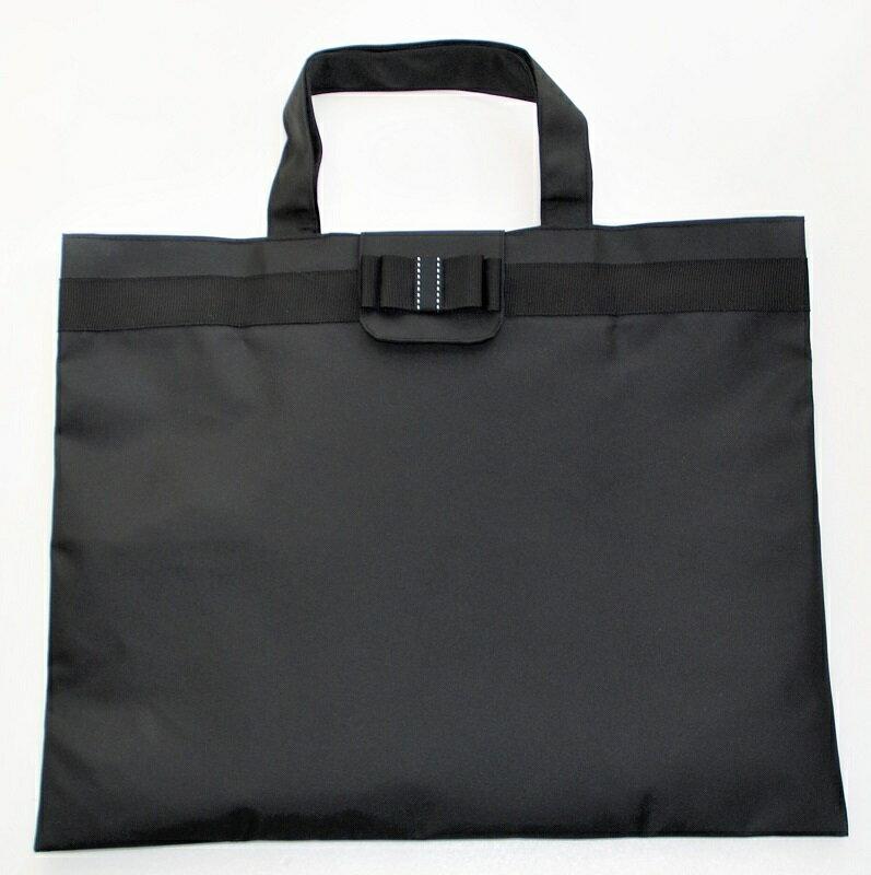 ジョリコムアンクール 折り畳みリボンバッグ 黒 お受験 入園入学 幼稚園 小学校 日本製 黒 上品 清楚