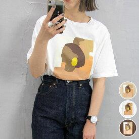 【1点の場合/メール便OK】Sheson(シーズン)プリントTシャツ 半袖 レディース 春夏 絵画 アート プリント Tシャツ WomenPrintTee