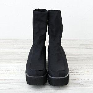angela-ストレッチブーツ-ブラック-正面