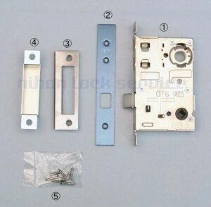 MIWA 13LA 空錠ケース BS64 DT33〜41 室内用空錠 ST色(美和ロック/錠ケース 交換 取替/鍵のない室内ドア用/13LA)
