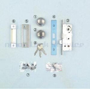 MIWA LA・MA 錠ケース BS31 DT33〜41 U9シリンダー+サムターン+鍵3本付 ST色(美和ロック/錠ケース 交換 取替/LA・MA)