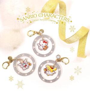 SANRIO,サンリオ,日本製,ハンドメイド,クリスマス,ツリー,飾り付け,チャーム,キラキラ