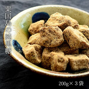 粟国島の純黒糖 200g×3袋 粟国島産黒糖 サトウキビ100% 黒砂糖 送料無料