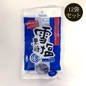雪塩黒糖 120g×12袋セット 小包装タイプ ミネラル補給 雪塩使用 加工黒糖【送料無料】