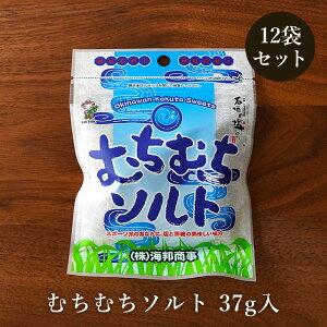 むちむちソルト 37g×12袋 黒糖と沖縄の天然塩 ミネラル補給 黒糖菓子 送料無料