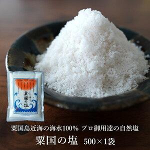 粟国の塩 500g×1袋 粟国島の自然海塩 送料無料