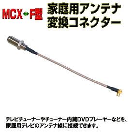 MCX(オス)−アンテナ(F型メス)変換ケーブル