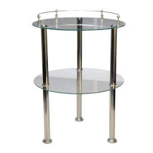 【送料無料】マージャン卓サイドテーブル ガラス製 高級感 組み立て簡単 高さ微調整可能
