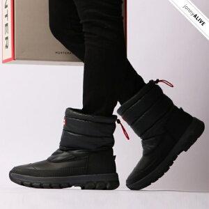 【ハンター梅雨早割10%OFF】 HUNTER MENS ORIGINAL INSULATED SNOW BOOT SHORT(オリジナル インシュレーテッドスノーショートブーツ) スノーブーツ メンズ 長靴 ハンター スノーシューズ オシャレ 黒 SS10