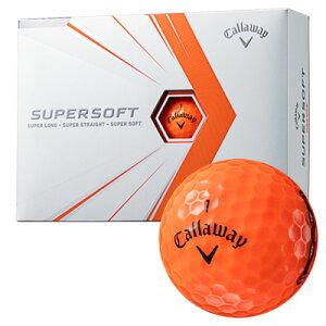 《今日だす》キャロウェイ 2021 スーパーソフト ボール (オレンジ) [1ダース]