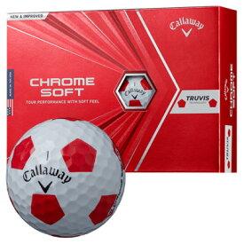 《今日だす》キャロウェイ 2020 クロムソフト TRUVIS(トゥルービス) ボール (ホワイト×レッド) [1ダース]