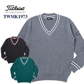 《今日だす》【お買い得品】タイトリスト Vネックセーター TWMK1973