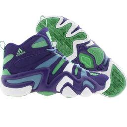 Adidas愛迪達Men Crazy發瘋8 college purple runninwhite白power blue愛迪達Shoes 222249男子的街道愛迪達