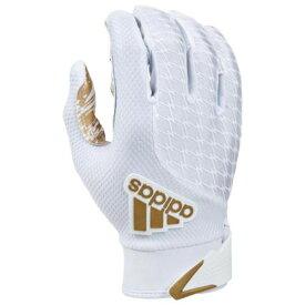 アディダス ADIDAS アディダス レシーバー グローブ 手袋 白色 ホワイト ゴールド 2.0 メンズ 【 ADIDAS ADIFAST RECEIVER GLOVES WHITE METALLIC GOLD 】