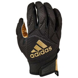 アディダス ADIDAS アディダス パッド レシーバー グローブ 手袋 黒色 ブラック ゴールド 5.0 メンズ 【 PADDED ADIDAS FREAK RECEIVER GLOVES BLACK METALLIC GOLD 】