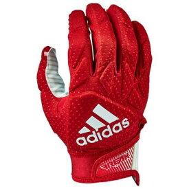 アディダス ADIDAS アディダス パッド レシーバー グローブ 手袋 赤 レッド 白色 ホワイト 5.0 メンズ 【 PADDED RED ADIDAS FREAK RECEIVER GLOVES WHITE 】