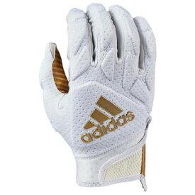 アディダス ADIDAS アディダス パッド レシーバー グローブ 手袋 白色 ホワイト ゴールド 5.0 メンズ 【 PADDED ADIDAS FREAK RECEIVER GLOVES WHITE METALLIC GOLD 】