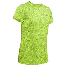 アンダーアーマー UNDER ARMOUR テック Tシャツ ライム 緑 グリーン 銀色 シルバー アンダーアーマー レディース 【 GREEN SILVER TECH TSHIRT LIME FIZZ CITRINE METALLIC 】