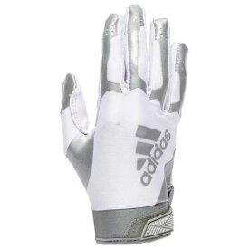 アディダス ADIDAS アディダス レシーバー グローブ 手袋 白色 ホワイト 銀色 シルバー 3.0 【 SILVER ADIDAS ADIFAST RECEIVER GLOVES WHITE 】