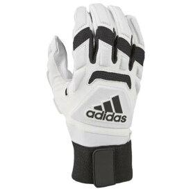 アディダス ADIDAS アディダス マックス グローブ 手袋 白色 ホワイト 黒色 ブラック 2.0 メンズ 【 ADIDAS FREAK MAX LINEMAN GLOVES WHITE BLACK 】