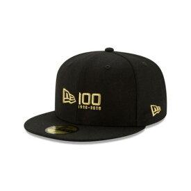 NEW ERA NEW ERA 100TH ANNIVERSARY 黒色 ブラック ニューエラ 【 100TH ANNIVERSARY 59FIFTY FITTED BLACK 】 バッグ キャップ 帽子 メンズキャップ 帽子