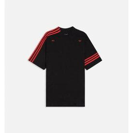 アディダス メンズ Tシャツ 黒色 ブラック 【 ADIDAS CONSORTIUM 424 MENS VOCAL TSHIRT BLACK 】
