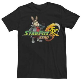 フォックス グラフィック Tシャツ 黒 ブラック 【 BLACK STAR FOX ZERO GRAPHIC TEE 】 メンズファッション トップス Tシャツ カットソー