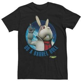 フォックス Tシャツ 黒 ブラック 【 BLACK STAR FOX 3D PEPPY BARREL ROLL TEE 】 メンズファッション トップス Tシャツ カットソー