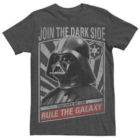 Tシャツ チャコール ヘザー 【 HEATHER STAR WARS DARTH VADER GALAXY RULER POSTER TEE CHARCOAL 】 メンズファッション トップス Tシャツ カットソー