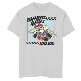 LICENSED CHARACTER キャラクター グラフィック Tシャツ 白色 ホワイト S' 【 LICENSED CHARACTER 820 NINTENDO MARIO KART RACE HARD GRAPHIC TEE WHITE 】 キッズ ベビー マタニティ トップス Tシャツ