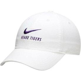 ナイキ NIKE 白 ホワイト ルイジアナステイト タイガース スウッシュ スウォッシュ 【 WHITE SWOOSH NIKE LSU TIGERS BIG HERITAGE 86 ADJUSTABLE HAT 】 バッグ キャップ 帽子 メンズキャップ 帽子