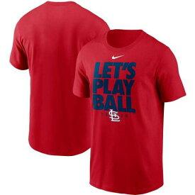 ナイキ NIKE 赤 レッド カーディナルス Tシャツ セントルイス カージナルス LET'S 【 RED NIKE PLAY BALL TSHIRT CRD 】 メンズファッション トップス Tシャツ カットソー