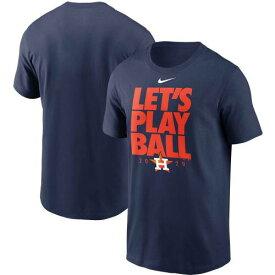 ナイキ NIKE 紺色 ネイビー ヒューストン アストロズ Tシャツ LET'S 【 NIKE NAVY PLAY BALL TSHIRT AST 】 メンズファッション トップス Tシャツ カットソー