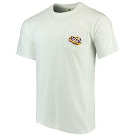 UNBRANDED 白 ホワイト ルイジアナステイト タイガース Tシャツ 【 WHITE UNBRANDED LSU TIGERS ALLEGIANCE COMFORT COLORS TSHIRT 】 メンズファッション トップス Tシャツ カットソー