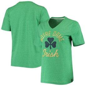 アンダーアーマー UNDER ARMOUR 緑 グリーン Vネック Tシャツ アンダーアーマー ノートルダム ファイティングアイリッシュ 【 GREEN HEATHERED VNECK TSHIRT NTD 】