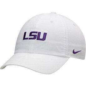 ナイキ NIKE 白 ホワイト ルイジアナステイト タイガース ロゴ パフォーマンス 【 WHITE NIKE LSU TIGERS HERITAGE 86 LOGO PERFORMANCE ADJUSTABLE HAT 】 バッグ キャップ 帽子 メンズキャップ 帽子