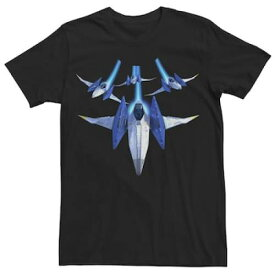 フォックス Tシャツ 黒 ブラック 【 BLACK STAR FOX ZERO LETS FLY TEE 】 メンズファッション トップス Tシャツ カットソー