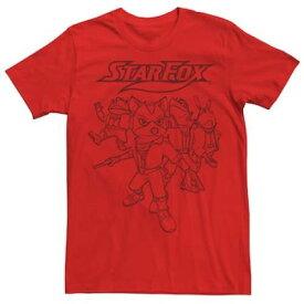 メンズ フォックス Tシャツ 赤 レッド 【 RED MENS STAR FOX 3D TEE 】 メンズファッション トップス Tシャツ カットソー