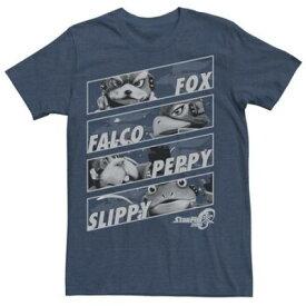 フォックス チーム Tシャツ 紺 ネイビー ヘザー 【 TEAM NAVY HEATHER STAR FOX ZERO CHANGE TEE 】 メンズファッション トップス Tシャツ カットソー