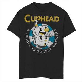 グラフィック Tシャツ 黒色 ブラック ジュニア キッズ 【 UNBRANDED CUPHEAD MUGMAN POKER CHIP BREWING BRAWL GRAPHIC TEE BLACK 】