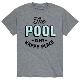 キャラクター プール Tシャツ 灰色 グレー メンズ 【 LICENSED CHARACTER POOL HAPPY PLACE TEE GREY 】