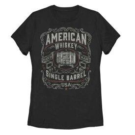 Tシャツ 黒色 ブラック ジュニア キッズ 【 UNBRANDED AMERICANA AMERICAN WHISKEY SINGLE BARREL TEE BLACK 】