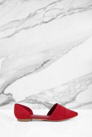 TOBI スエード スウェード 【 Easy Does It Suede Dorsay Flats 】 Red